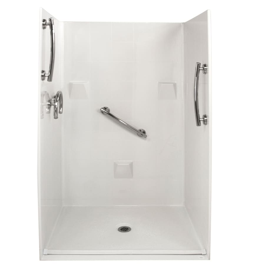 Ella's Bubbles Shower Wall Surround Side and Back Panels with Floor (Common: 37-in; Actual: 78-in x 37-in)