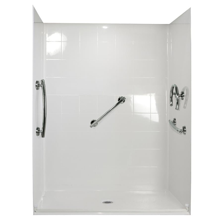 Ella's Bubbles Shower Wall Surround Side and Back Panels with Floor (Common: 31-in; Actual: 77.75-in x 31-in)