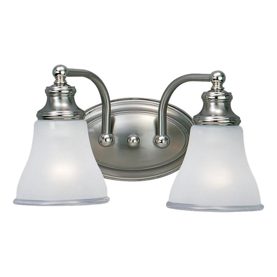 Sea Gull Lighting Alexandria 2-Light Two-Tone Nickel Bell Vanity Light