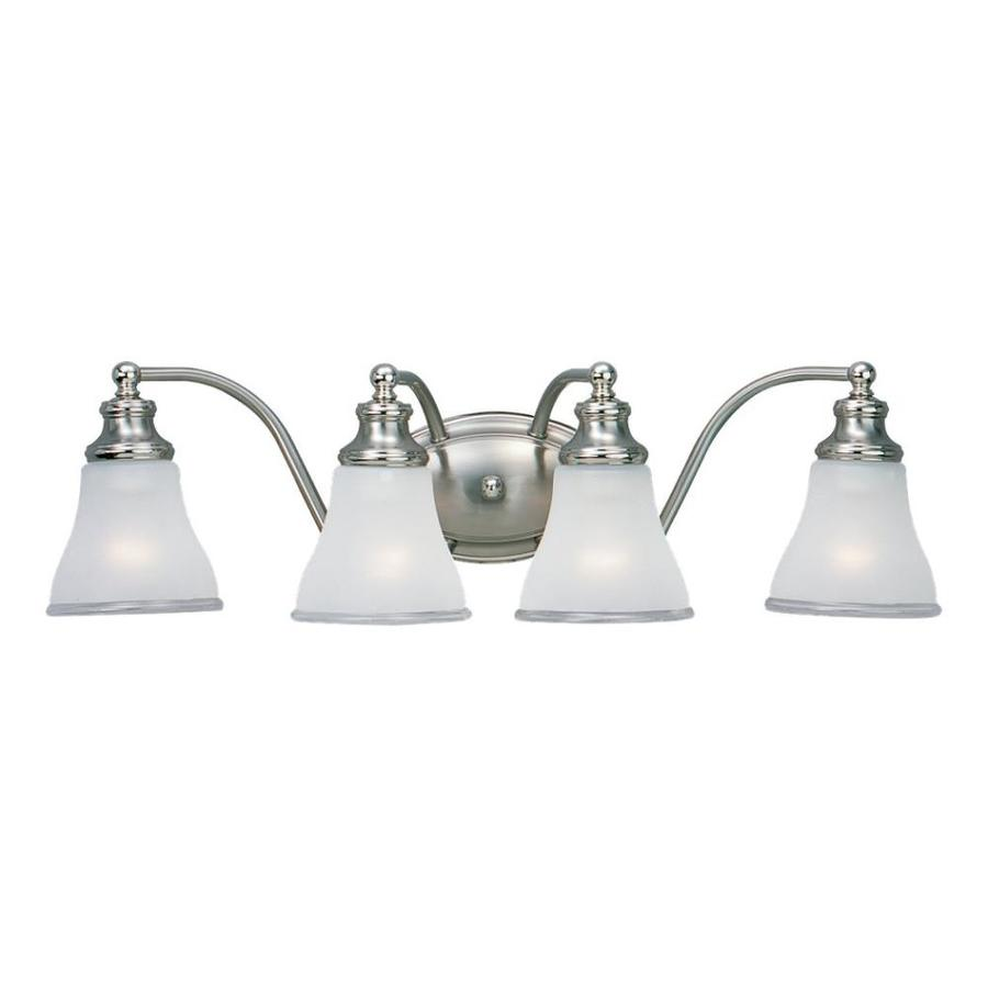 Sea Gull Lighting Alexandria 4-Light Two-Tone Nickel Bell Vanity Light