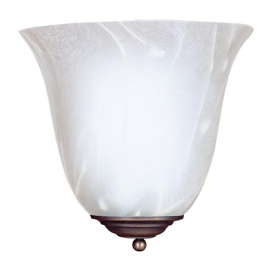 Sea Gull Lighting Costa 1-Light 10-in Antique bronze Bell Vanity Light