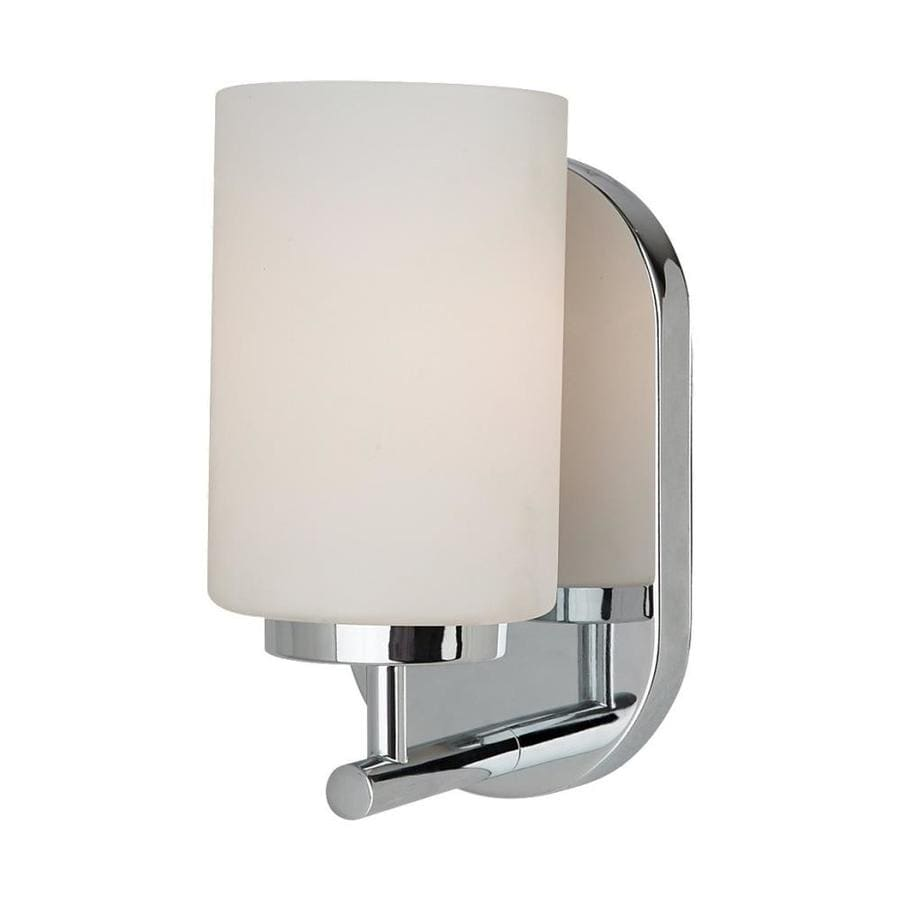 Vanity Lights Chrome : Shop Sea Gull Lighting Oslo 1-Light Chrome Cylinder Vanity Light at Lowes.com