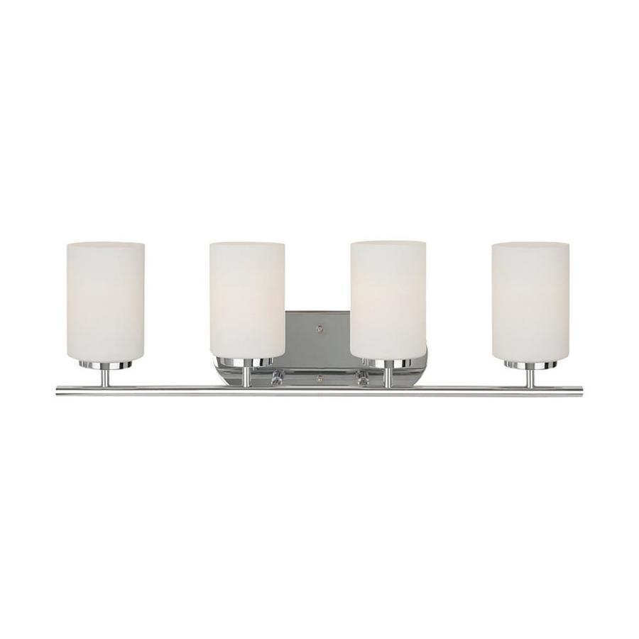 Sea Gull Lighting Oslo 4-Light 8.5-in Chrome Cylinder Vanity Light