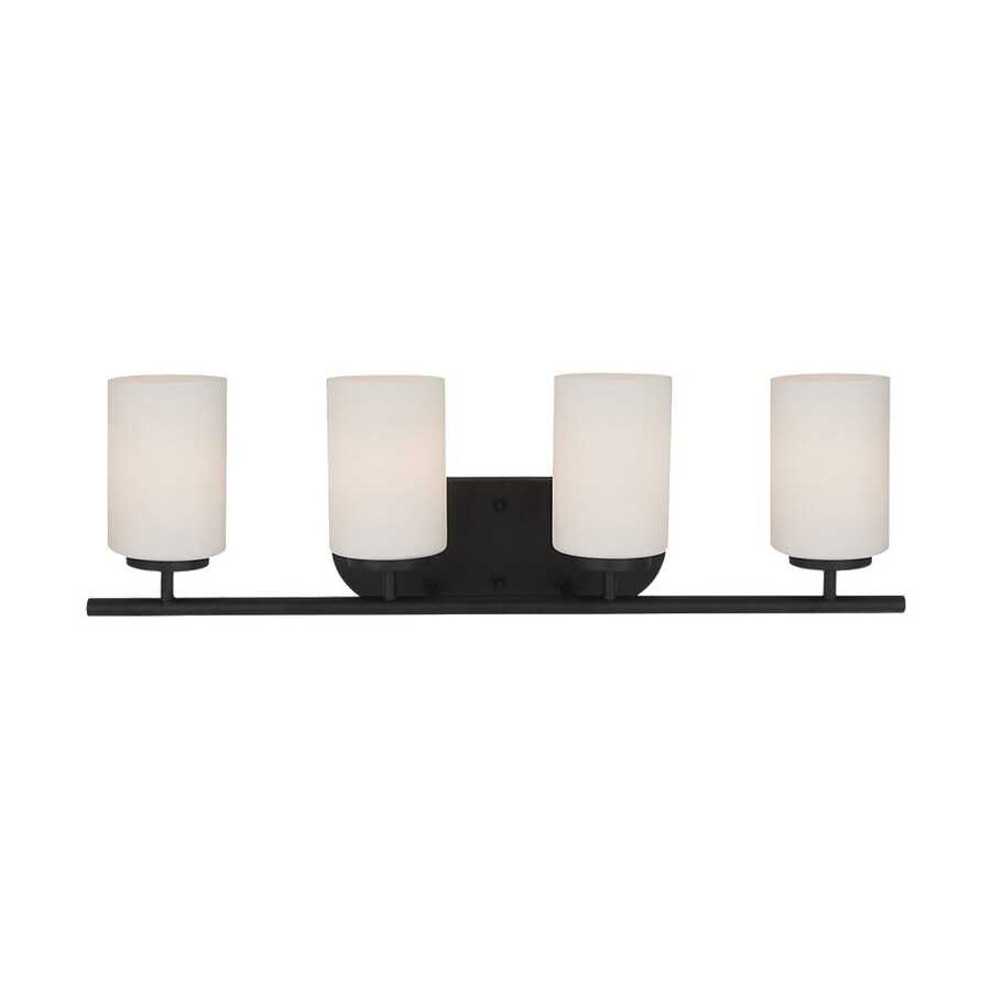 Sea Gull Lighting Oslo 4-Light Blacksmith Cylinder Vanity Light