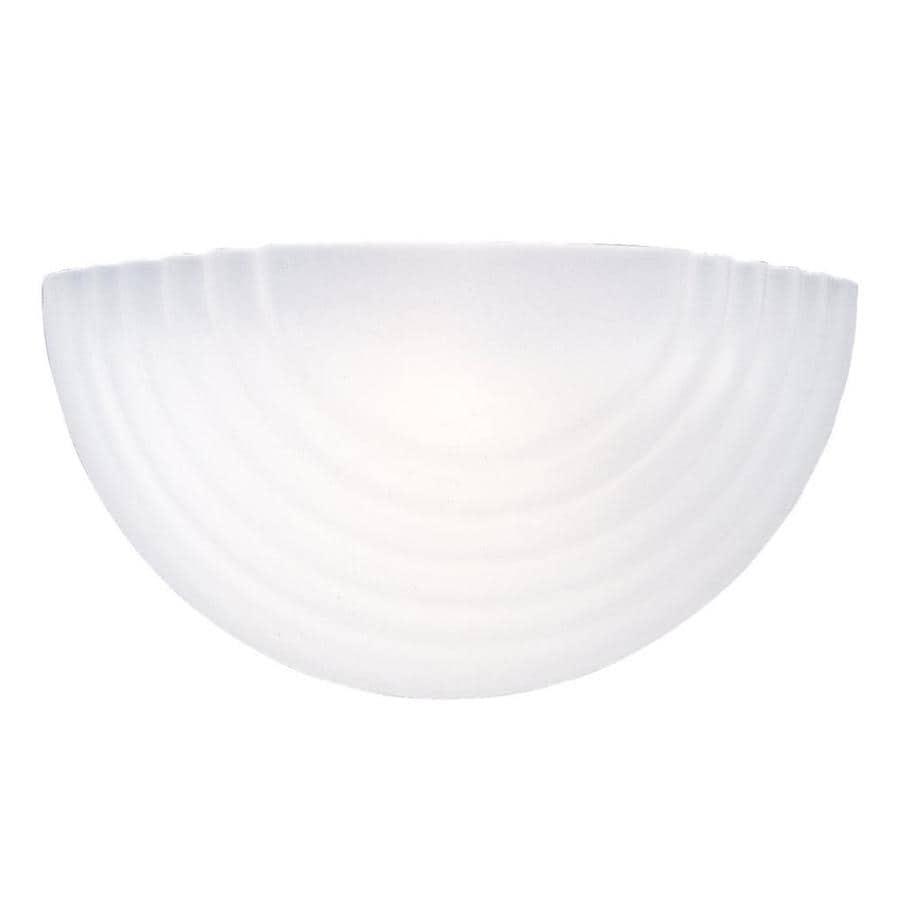 Sea Gull Lighting 1-Light White Bowl Vanity Light