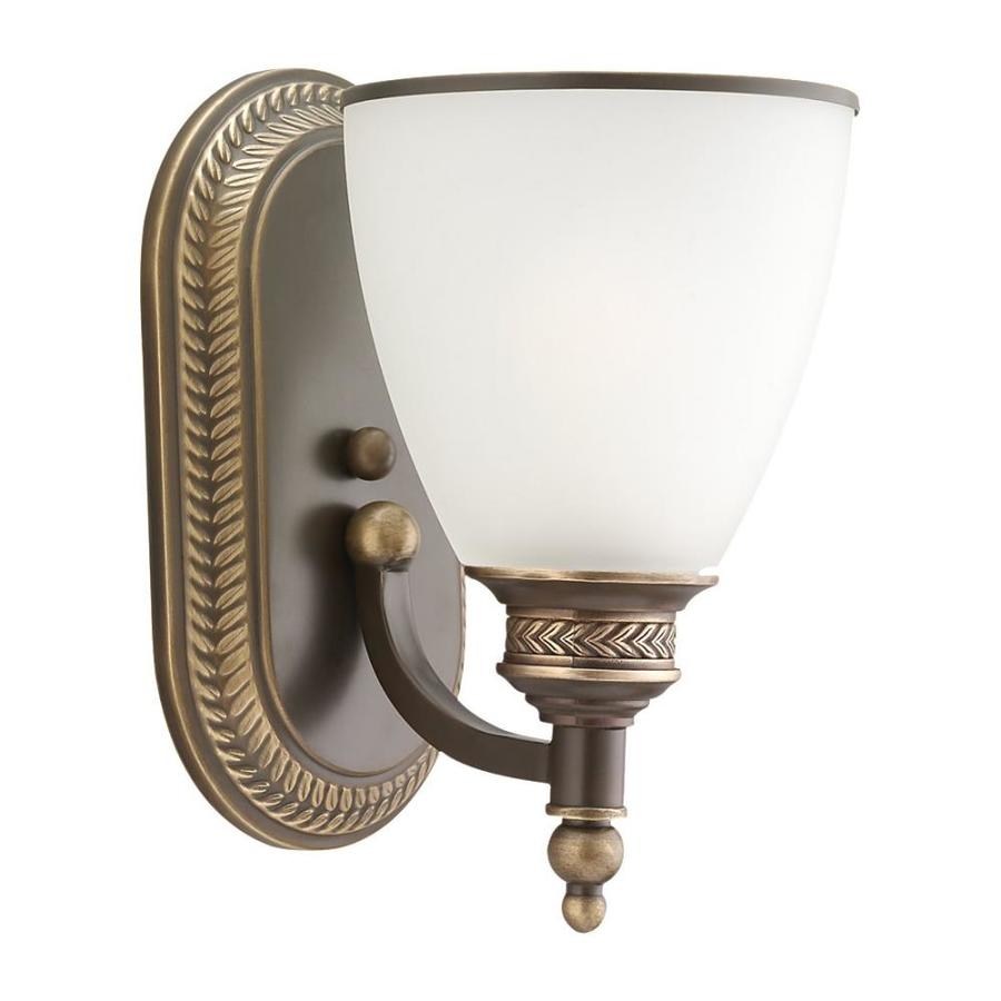Sea Gull Lighting Laurel Leaf 1-Light Estate Bronze Bell Vanity Light