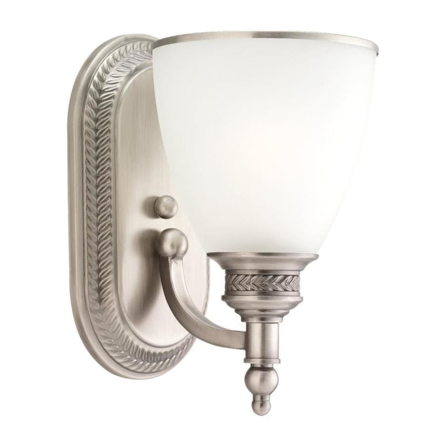 Sea Gull Lighting Laurel Leaf 1-Light Antique Brushed Nickel Bell Vanity Light