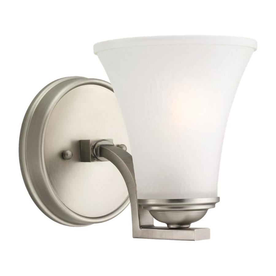 Sea Gull Lighting Somerton 1-Light 6.75-in Antique brushed nickel Bell Vanity Light
