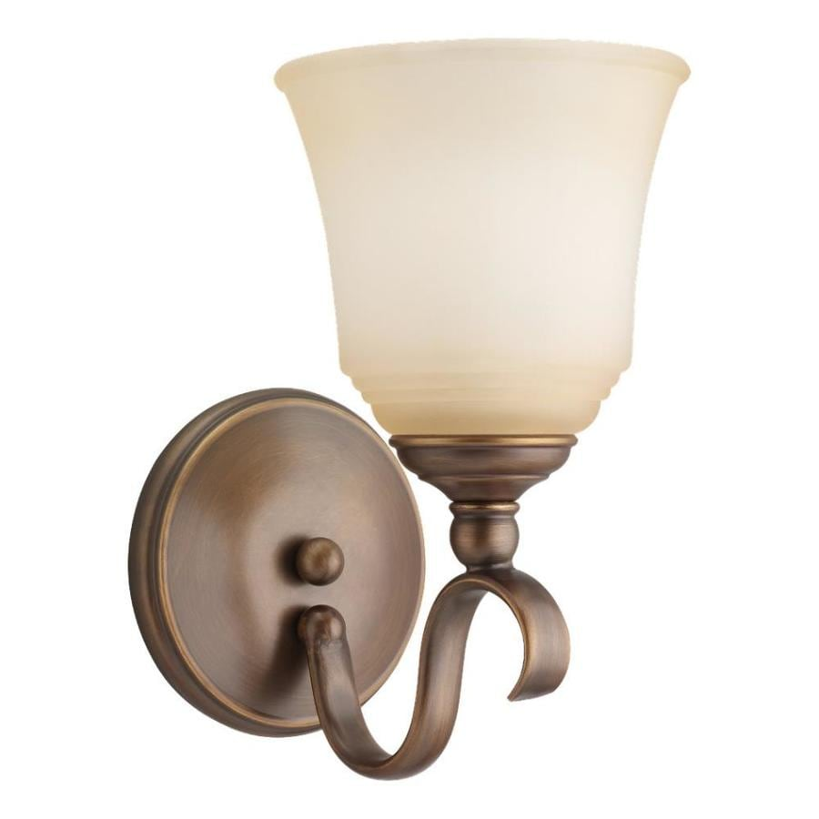 Sea Gull Lighting Parkview 1-Light 10.5-in Russet bronze Bell Vanity Light