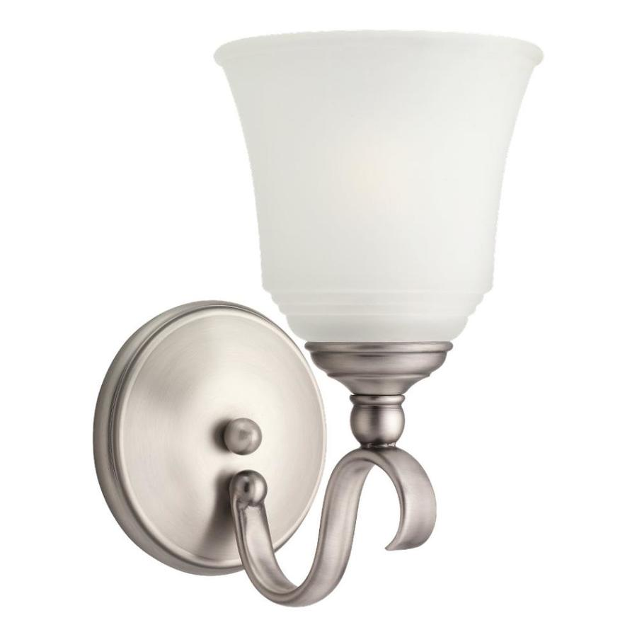 Sea Gull Lighting Parkview 1-Light Antique Brushed Nickel Bell Vanity Light