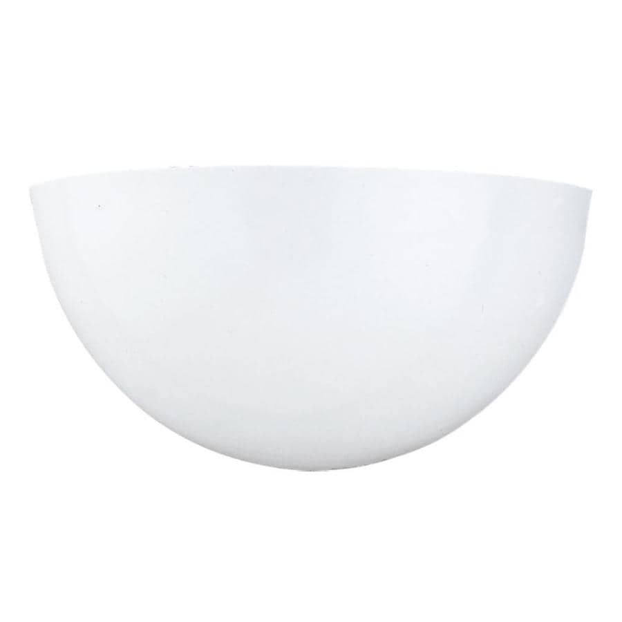 Sea Gull Lighting 1-Light White Bowl Vanity Light