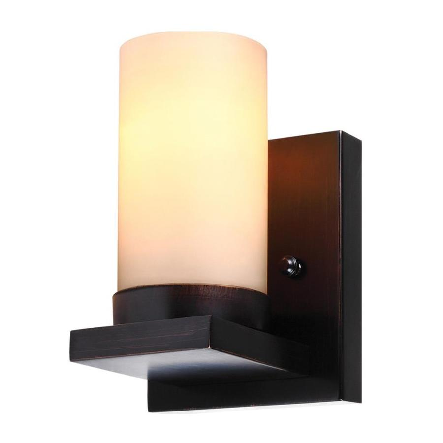 Sea Gull Lighting Ellington 1-Light Burnt Sienna Cylinder Vanity Light