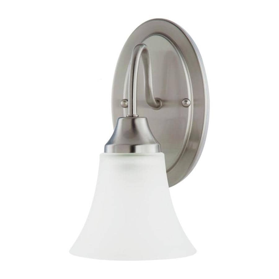 Vanity Lights Brushed Nickel : Shop Sea Gull Lighting Holman 1-Light Brushed Nickel Bell Vanity Light at Lowes.com