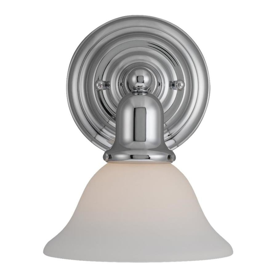 Sea Gull Lighting Sussex 1-Light 10.25-in Chrome Bell Vanity Light