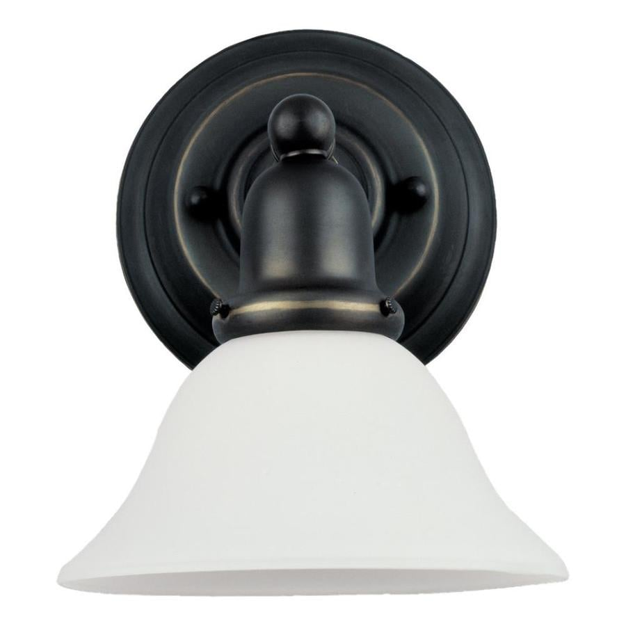 Sea Gull Lighting Sussex 1-Light 10.25-in Heirloom bronze Bell Vanity Light