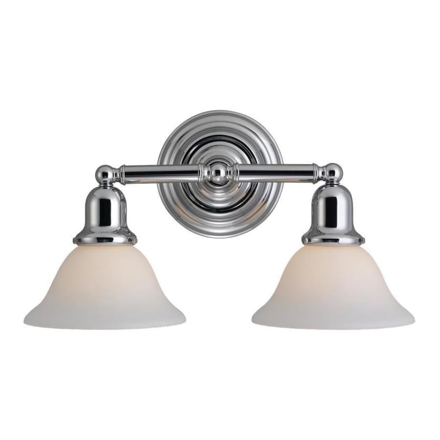 Sea Gull Lighting Sussex 2-Light 10.25-in Chrome Bell Vanity Light