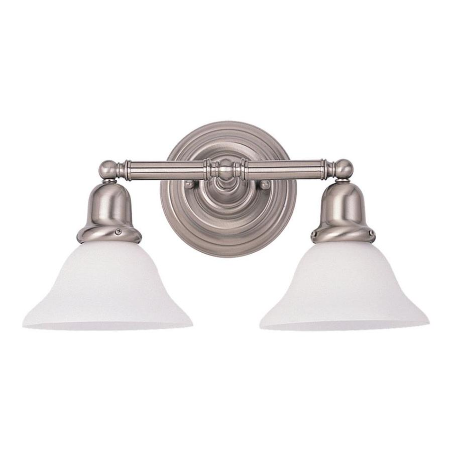 Sea Gull Lighting Sussex 2-Light Brushed Nickel Bell Vanity Light