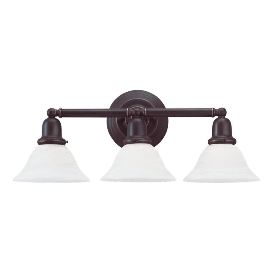 Sea Gull Lighting Sussex 3-Light Heirloom Bronze Bell Vanity Light