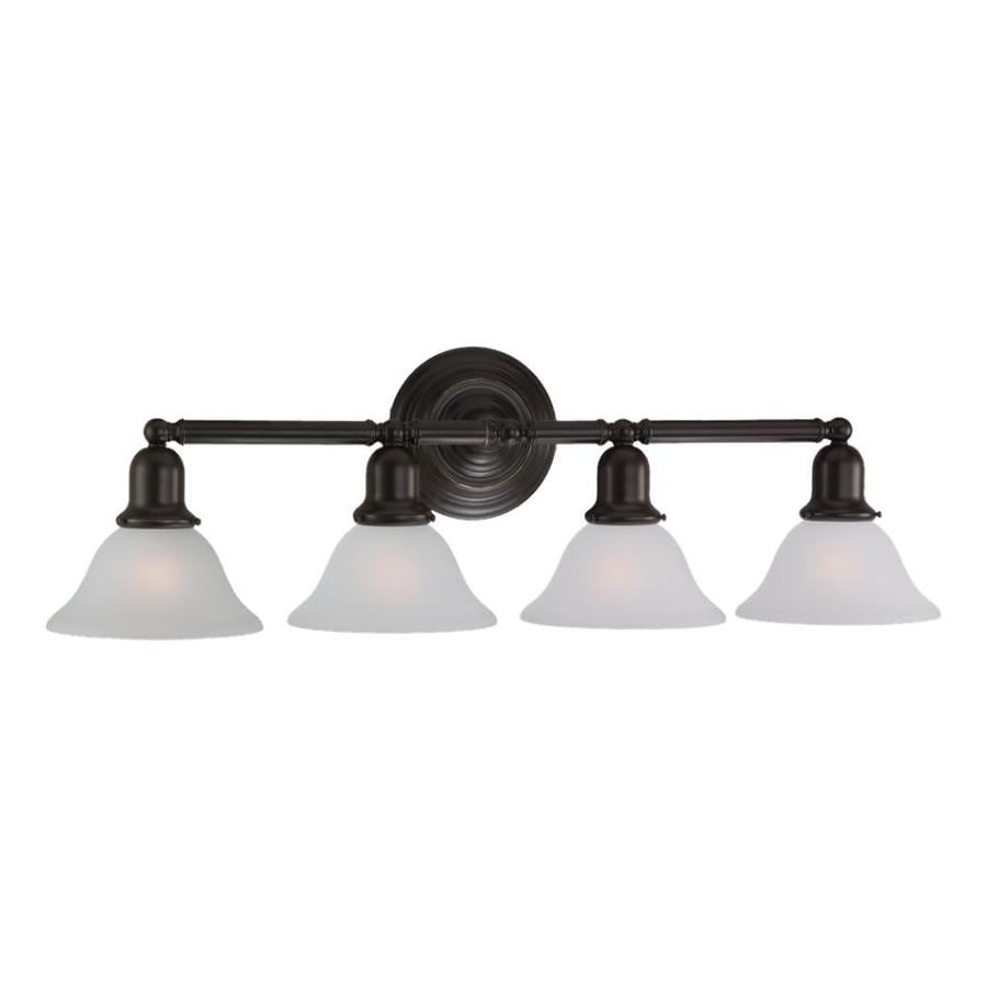 Sea Gull Lighting Sussex 4-Light 10.25-in Heirloom bronze Bell Vanity Light
