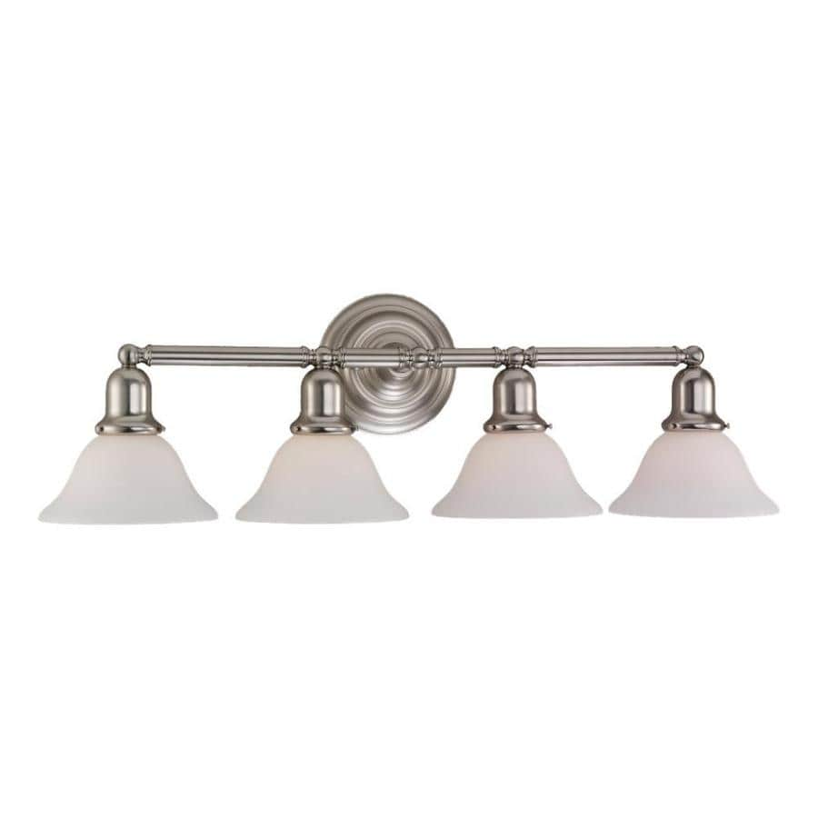 4 Light Brushed Nickel Vanity Lights : Shop Sea Gull Lighting Sussex 4-Light Brushed Nickel Bell Vanity Light at Lowes.com
