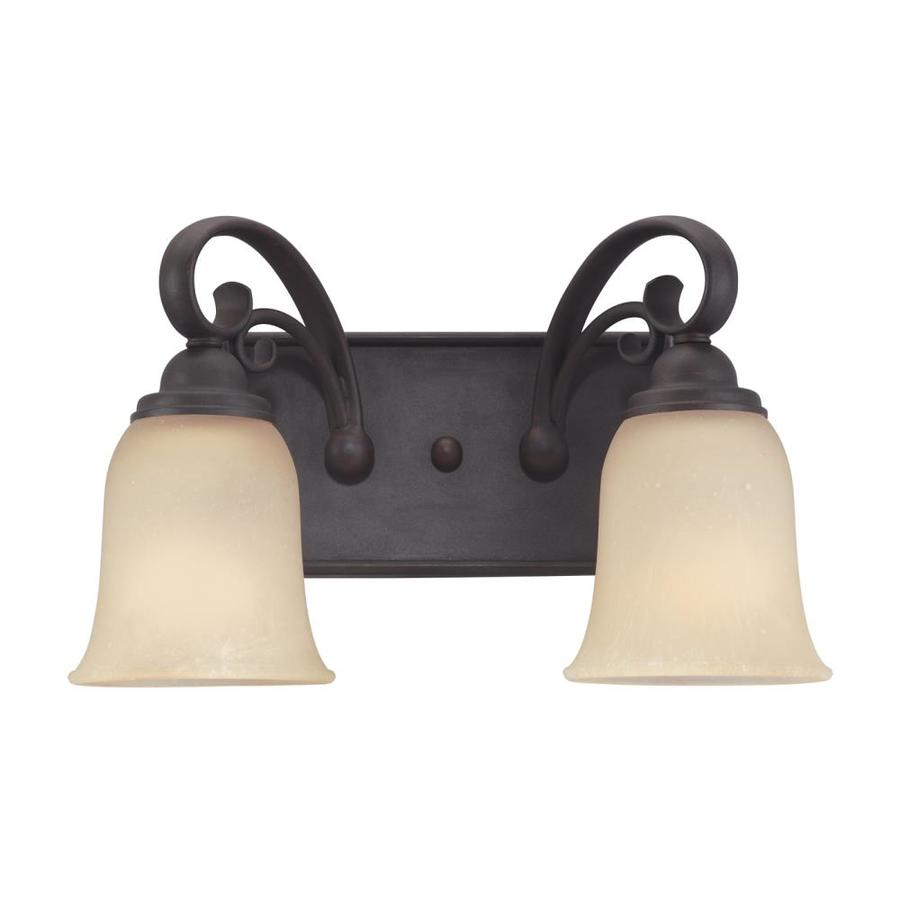 Sea Gull Lighting Del Prato 2-Light Chestnut Bell Vanity Light