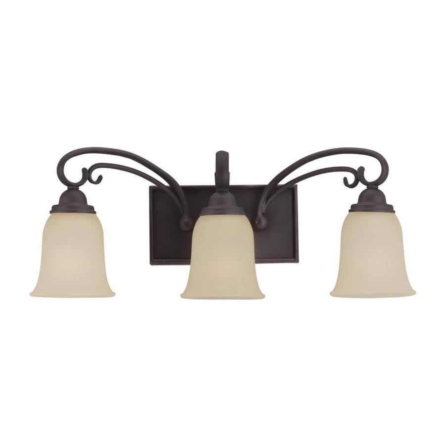 Sea Gull Lighting Del Prato 3-Light 9.25-in Chestnut Bell Vanity Light