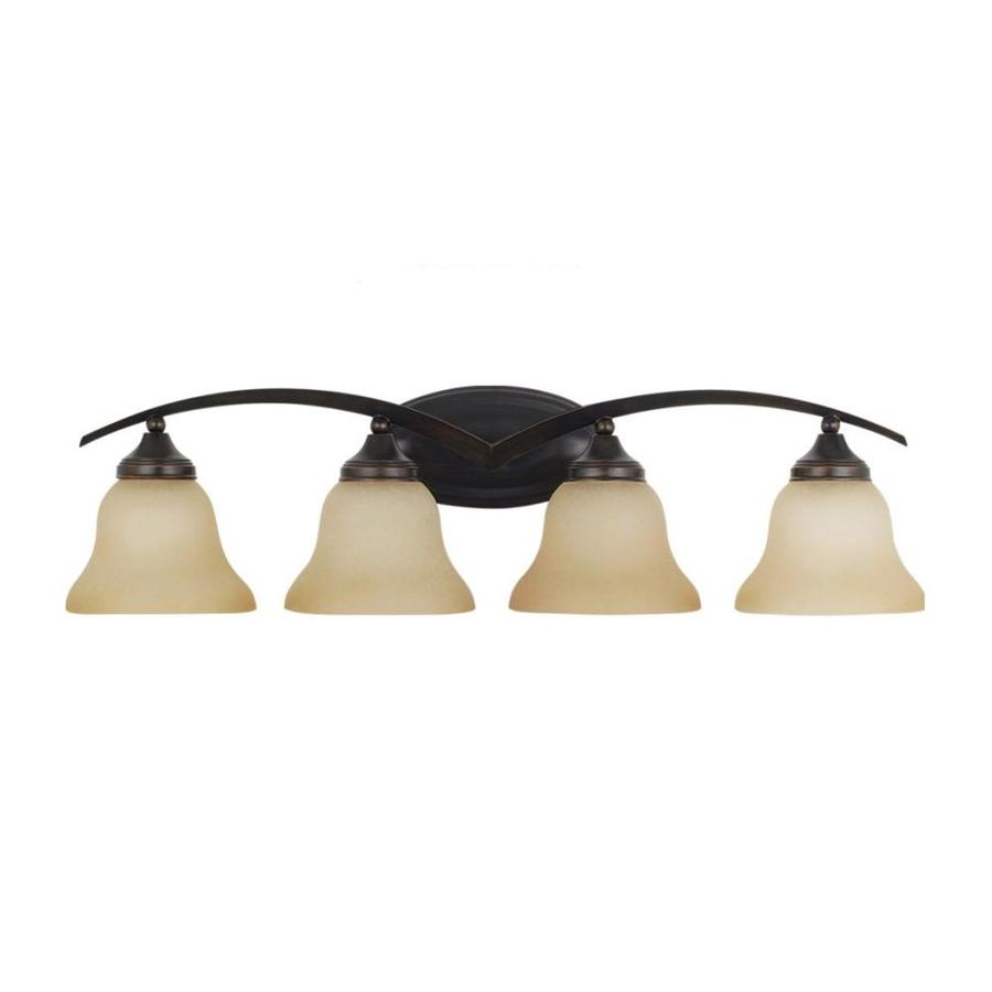 Sea Gull Lighting Brockton 4-Light Burnt Sienna Bell Vanity Light