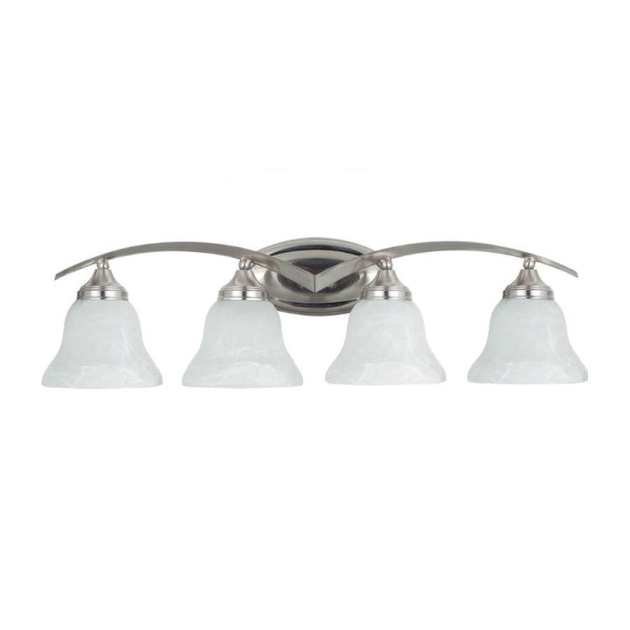 Sea Gull Lighting Brockton 4-Light Brushed Nickel Bell Vanity Light