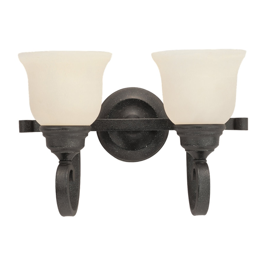 Shop Sea Gull Lighting Light Serenity Weathered Iron Bathroom - Iron bathroom light fixtures
