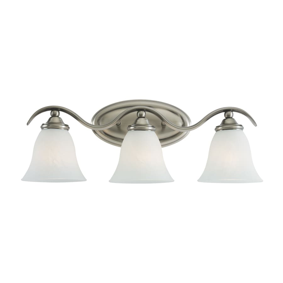 lowes bathroom lighting brushed nickel shop sea gull lighting 3 light rialto antique brushed 23715