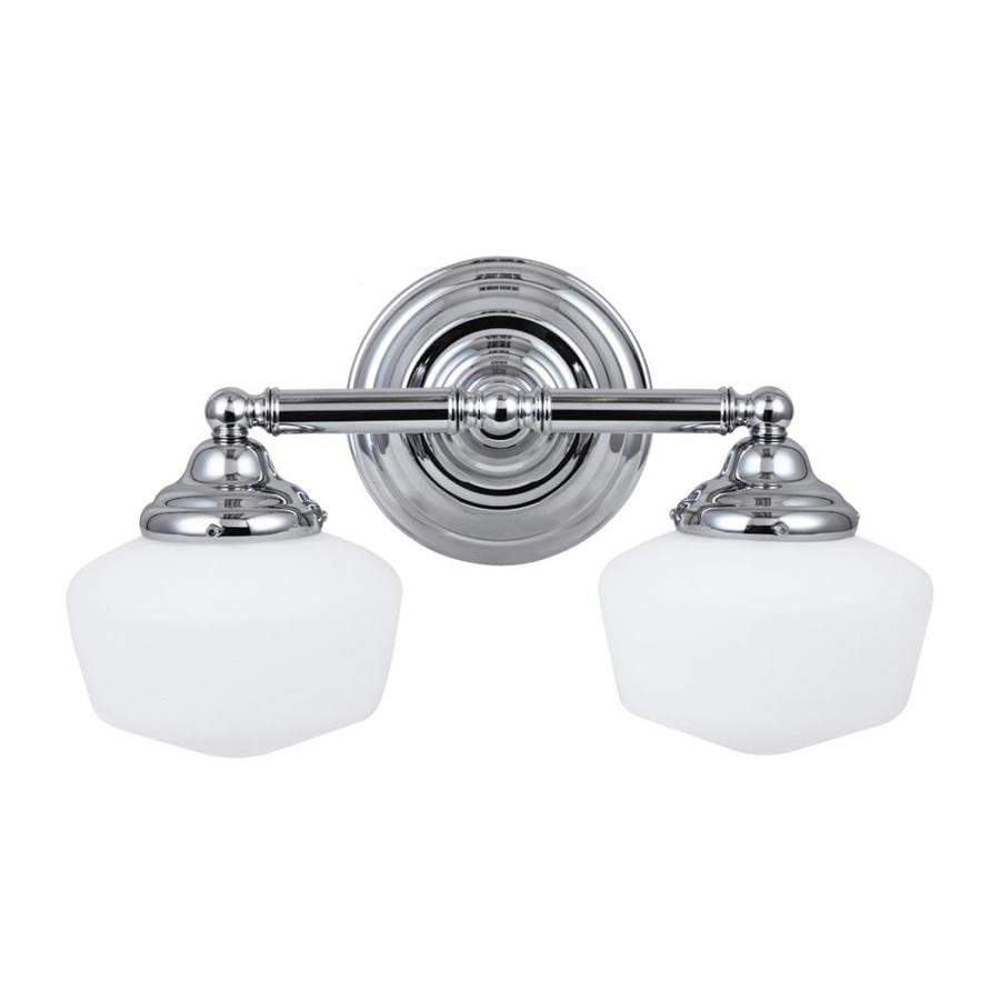 Sea Gull Lighting Academy 2-Light 17.25-in Chrome Schoolhouse Vanity Light  sc 1 st  Loweu0027s : schoolhouse lights lowes - www.canuckmediamonitor.org