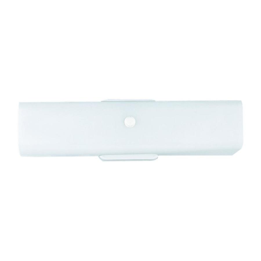 Sea Gull Lighting 1-Light White Rectangle Vanity Light Bar