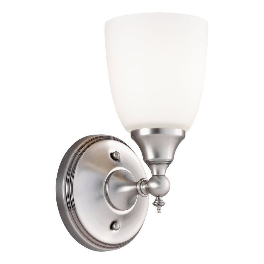 Sea Gull Lighting Finitude 1-Light 10.72-in Antique brushed nickel Bell Vanity Light
