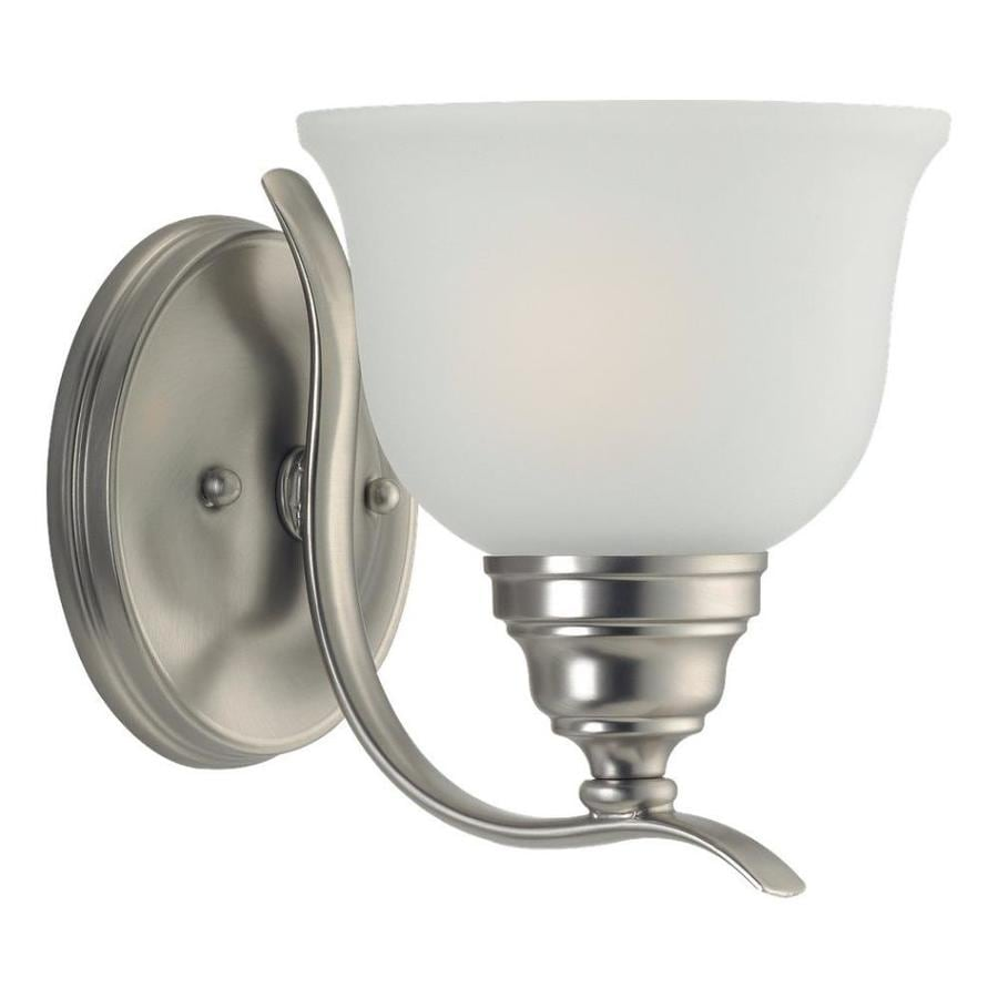 Sea Gull Lighting Wheaton 1-Light Brushed Nickel Bell Vanity Light