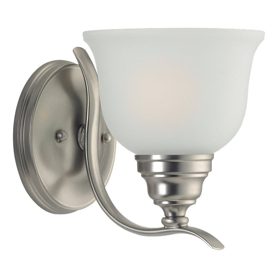 Sea Gull Lighting Wheaton 1-Light Brushed Nickel Vanity Light