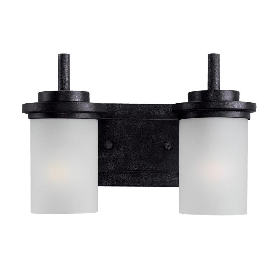 Sea Gull Lighting Winnetka 2-Light Blacksmith Vanity Light