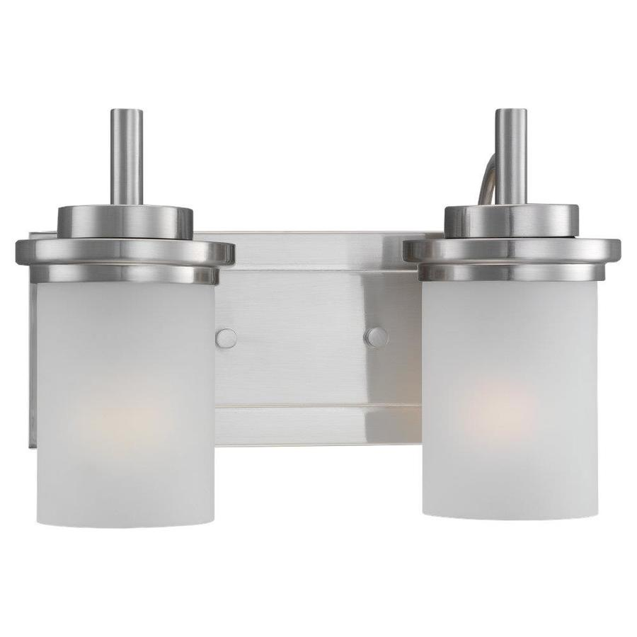 Sea Gull Lighting Winnetka 2-Light Brushed Nickel Cylinder Vanity Light