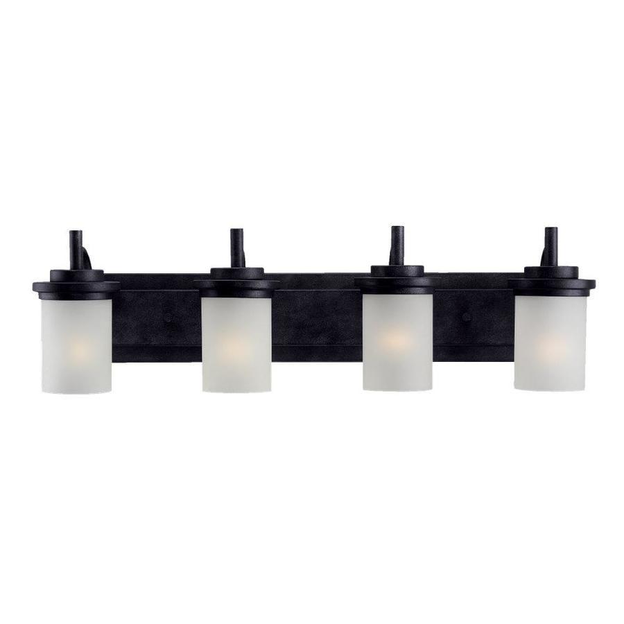 Sea Gull Lighting Winnetka 4-Light 9.25-in Blacksmith Cylinder Vanity Light
