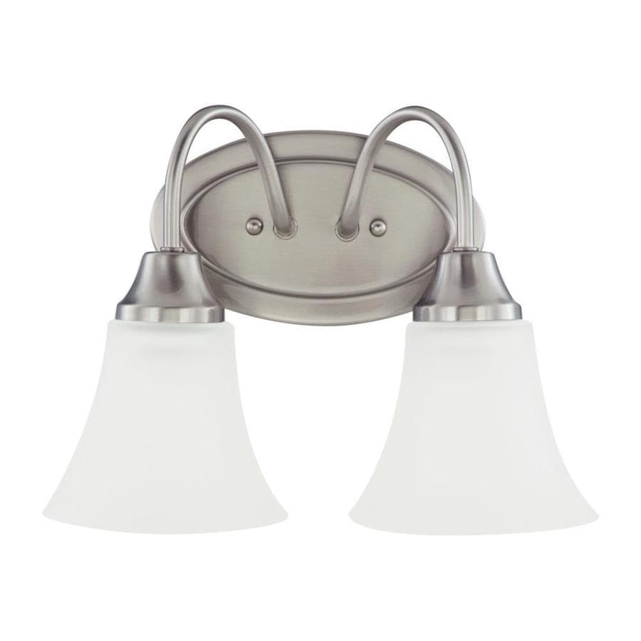 Sea Gull Lighting Holman 2-Light 9-in Brushed nickel Bell Vanity Light