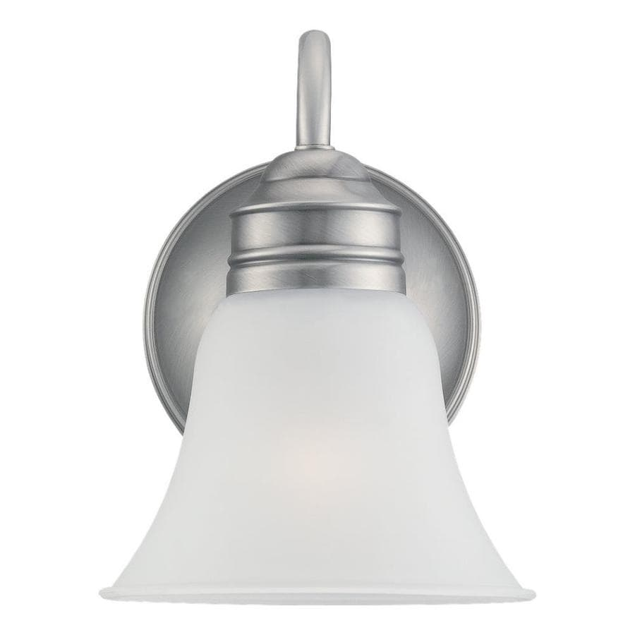Sea Gull Lighting Gladstone 1-Light 9-in Antique brushed nickel Bell Vanity Light