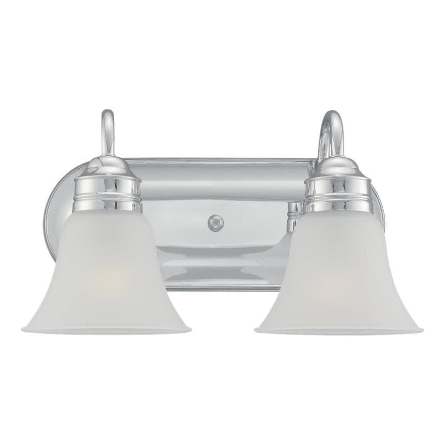 Sea Gull Lighting Gladstone 2-Light 9-in Chrome Bell Vanity Light