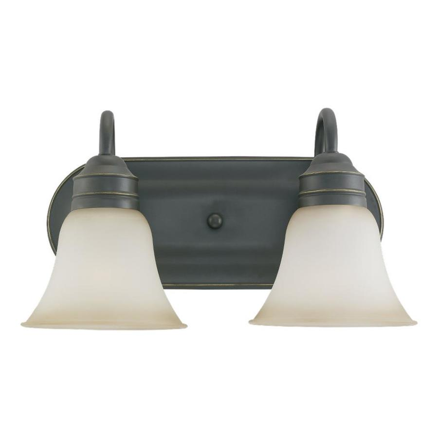 Sea Gull Lighting Gladstone 2-Light Heirloom Bronze Bell Vanity Light