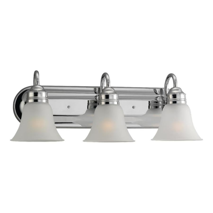 Sea Gull Lighting Gladstone 3-Light Chrome Bell Vanity Light