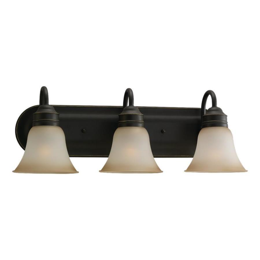 Sea Gull Lighting Gladstone 3-Light 9-in Heirloom bronze Bell Vanity Light