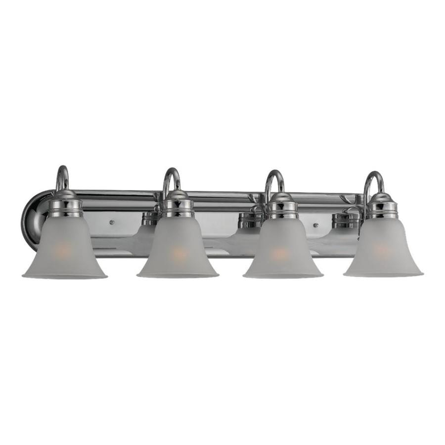 Sea Gull Lighting Gladstone 4-Light 9-in Chrome Bell Vanity Light