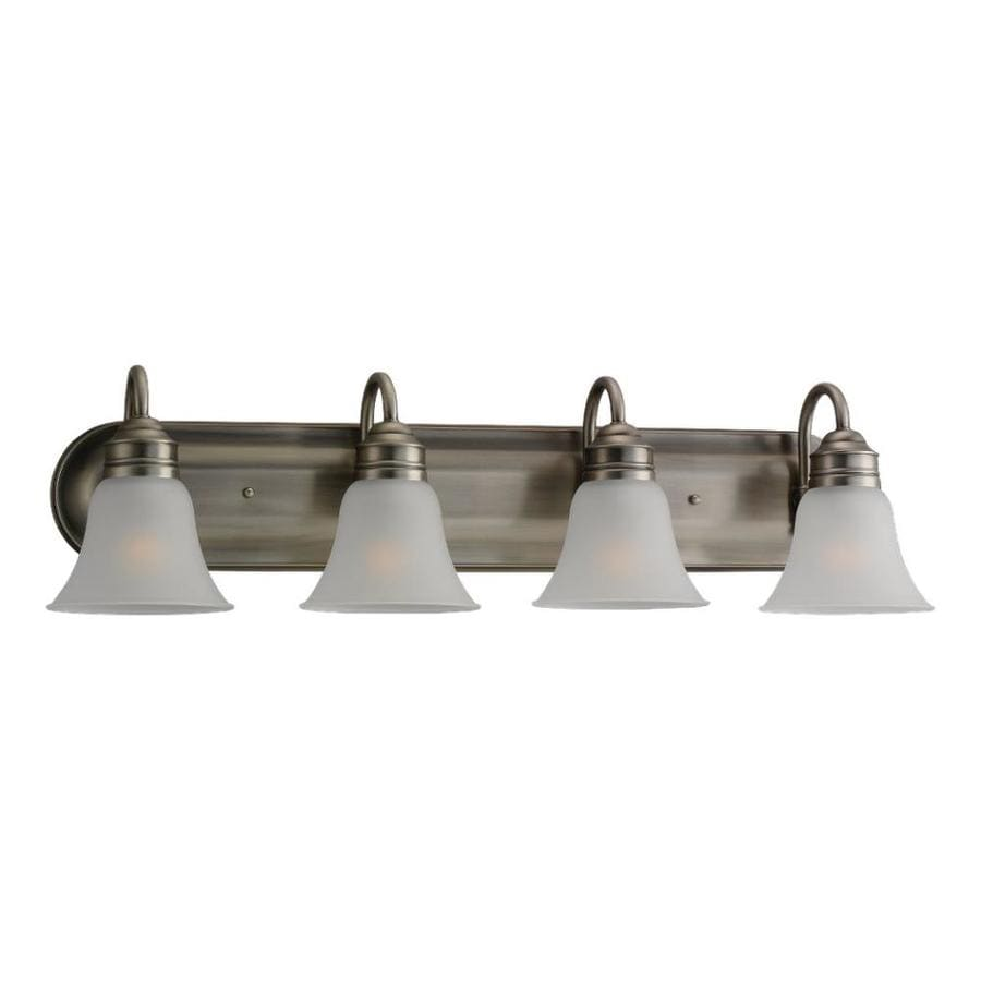 4 Light Brushed Nickel Vanity Lights : Shop Sea Gull Lighting Gladstone 4-Light Antique Brushed Nickel Bell Vanity Light at Lowes.com