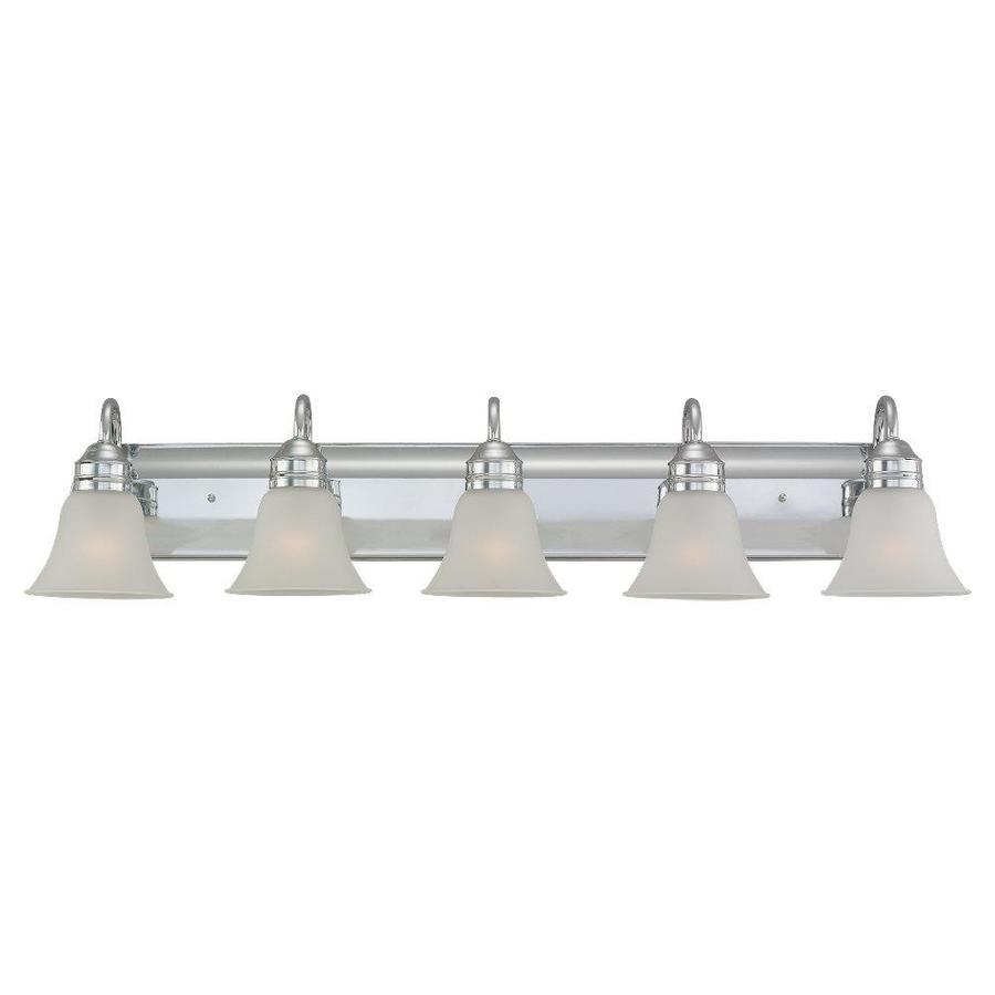 Sea Gull Lighting Gladstone 5-Light Chrome Bell Vanity Light