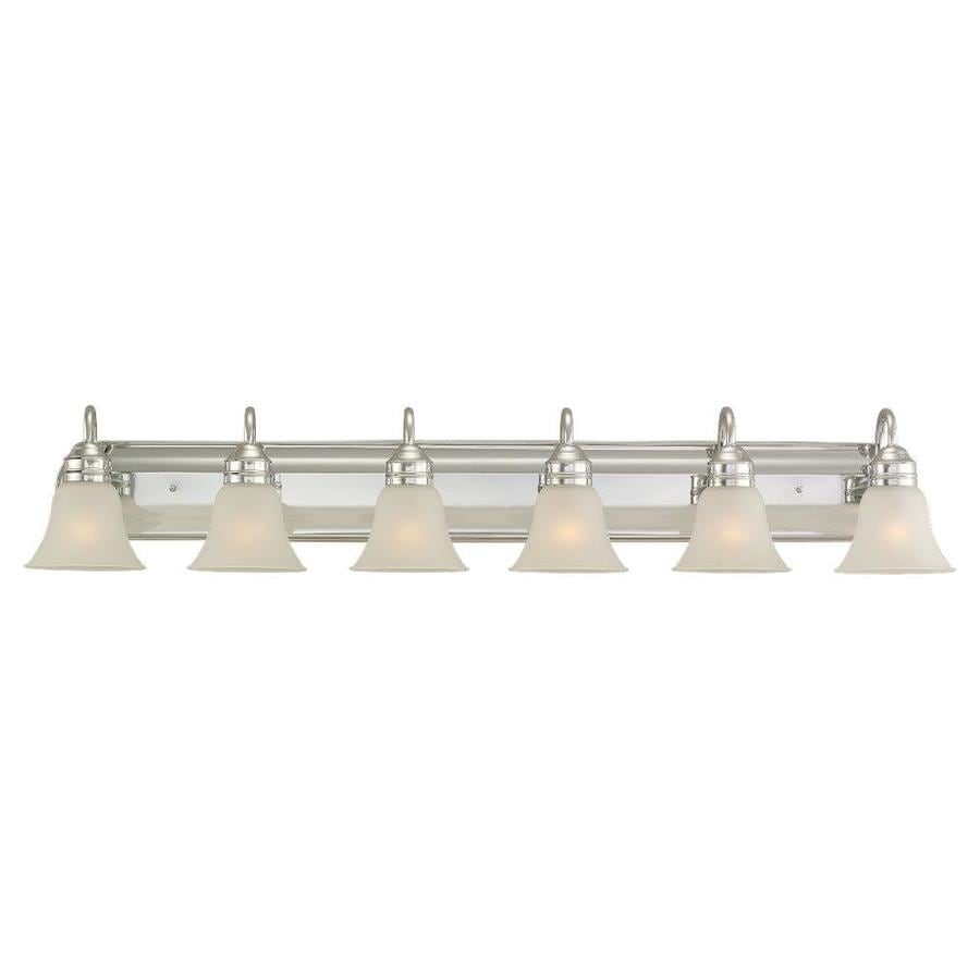 Shop sea gull lighting gladstone 6 light 50 in chrome bell for 6 light bathroom vanity light