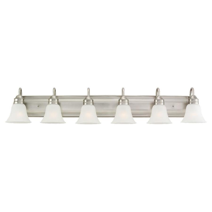 6 bulb bathroom light fixture shop sea gull lighting gladstone 6 light 50 in antique 21859