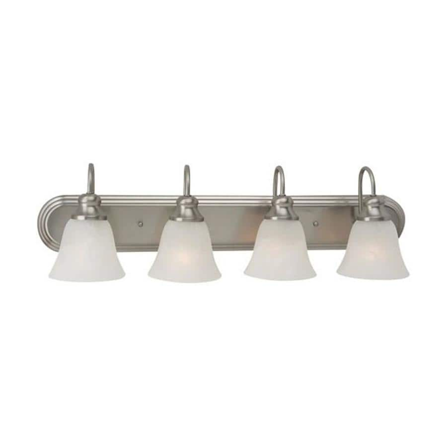 4 Light Brushed Nickel Vanity Lights : Shop Sea Gull Lighting Windgate 4-Light Brushed Nickel Bell Vanity Light at Lowes.com